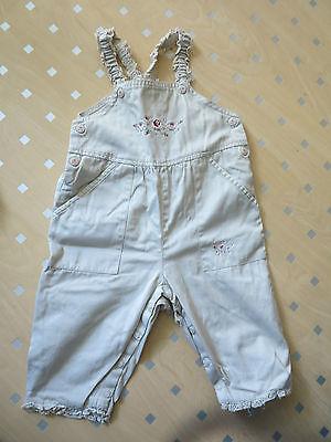 #556) Leichte Sommer Latzhose H&m Gr. 68 Bestickt Mit Blumen - Hose Jeans - Top Modische Muster