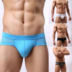 Hombre-Calzoncillos-Boxer-Briefs-Respirables-Tangas-Ropa-Interior-Slips-Tangas