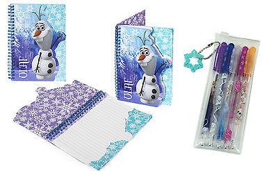 Disney FROZEN Pack of 3 x Sparkly Pencils /& Eraser ANNA ELSA /& OLAF Toppers