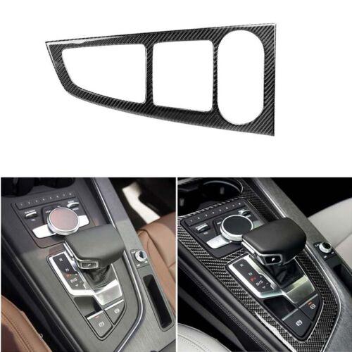 Real Carbon Fiber Center Console Panel Cover Trim Fit For Audi A4 2017-2019