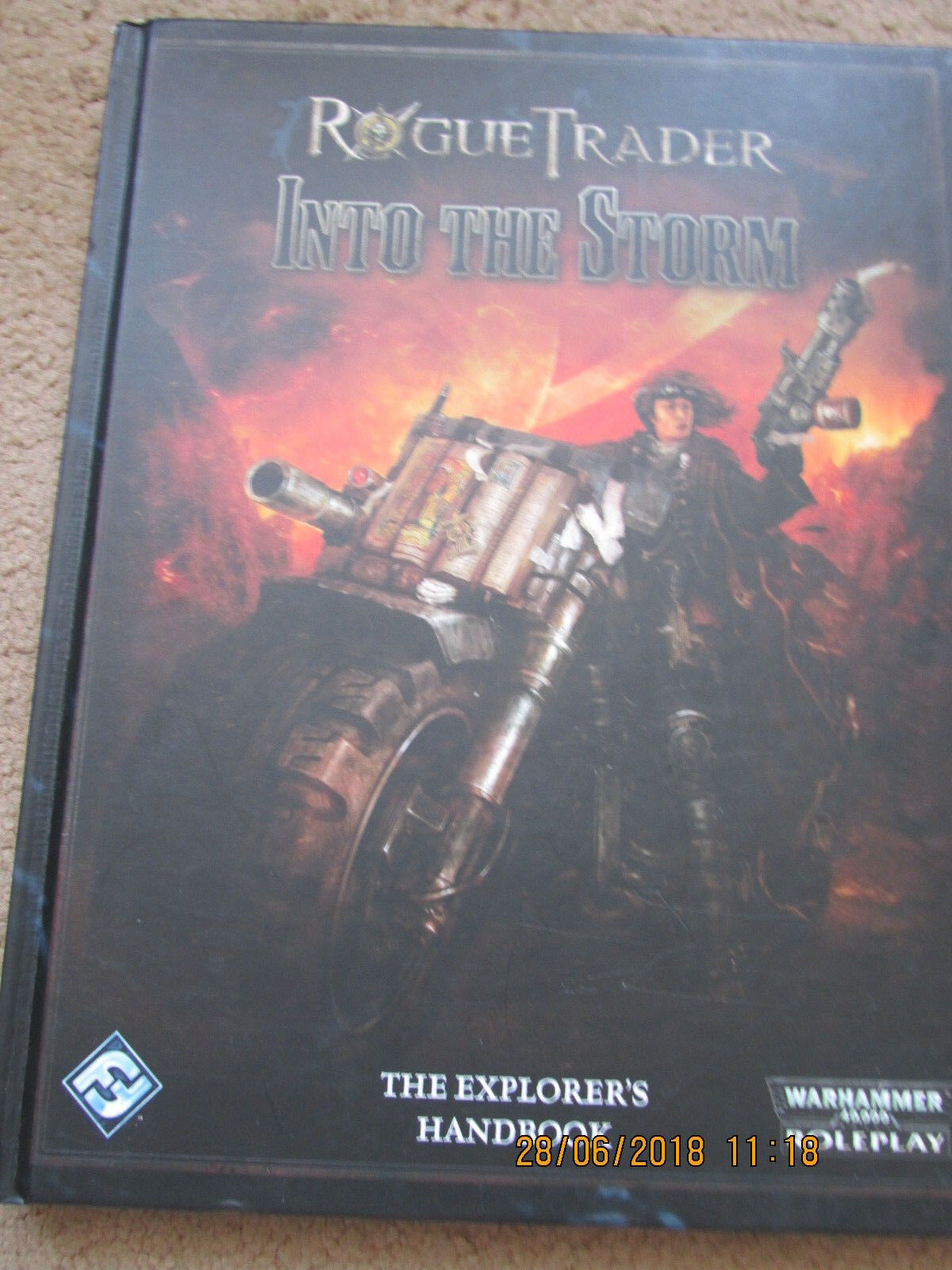 WARHAMMER 40,000 ROGUE TRADER INTO THE STORM EXPLORERS HANDBOOK FF VGC HB HC
