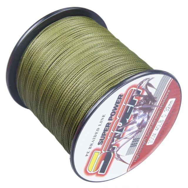 8x Geflochtene Angelschnur grün  0.32mm    22,6 KG