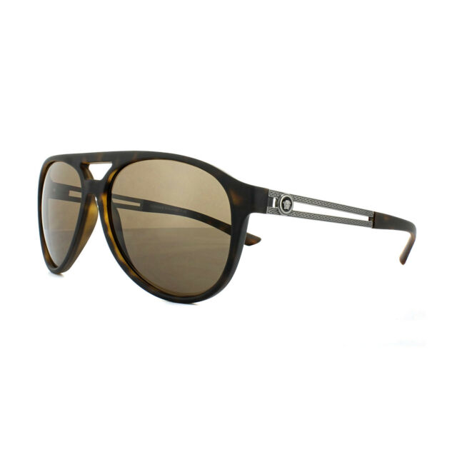 cc0ac5f8244 Versace Sunglasses 4312 517473 Havana Rubber Brown