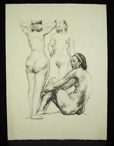 Georges-Joubin-1888-1983-Nue-de-Women-Print-towards-1970