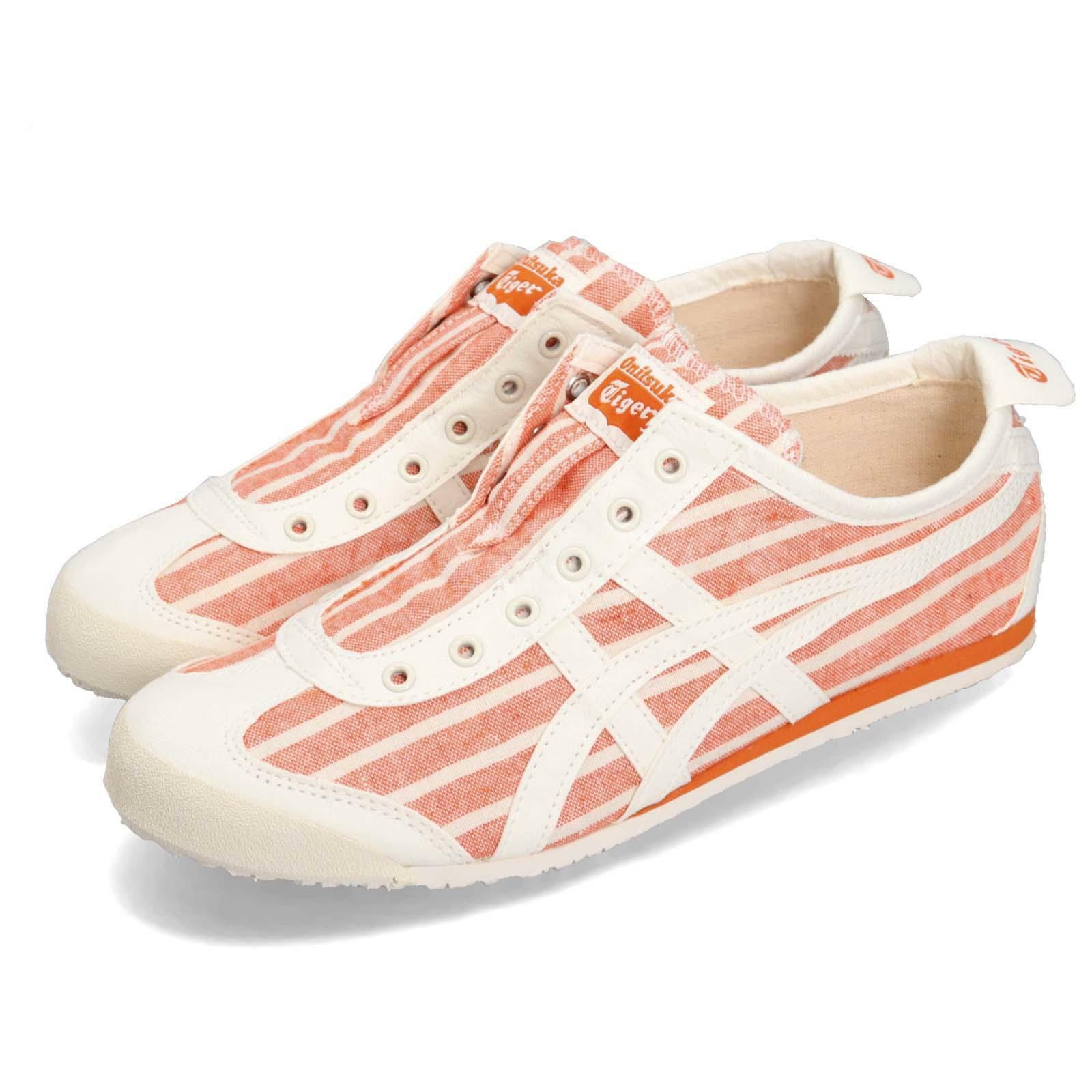 Asics Onitsuka Tiger Mexico 66 Slip On orange Cream Men Women shoes 1183A239-801
