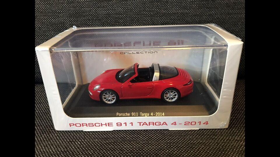 Modelbil, Atlas Porsche 911 Targa 4 - 2014, skala 1:43