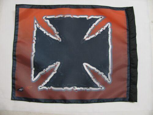 DuneRats Original Custom ATV Motorcycle Safety Whip Flag Black Iron Cross