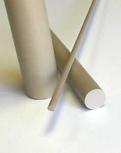 "4/"" Diameter UHMW Polyethylene Plastic Rod-Price Per Foot-Cut to Size!"