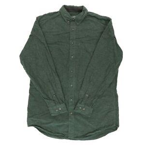 Woolrich-Men-LT-Large-50-034-Tall-Long-Sleeve-Button-Shirt-Cotton-Flannel-Chamois