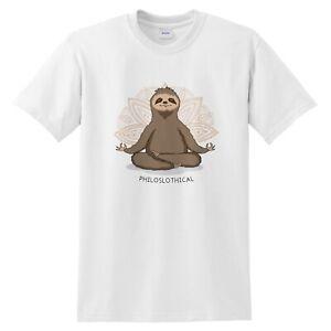 Philoslothical-Funny-T-shirt-Gift-Hot-Yoga-Sloth-Meditate-Meditation-Pilates