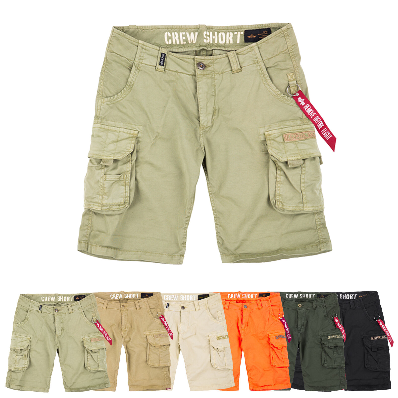 Alpha Industries Men's Shorts Crew Shorts Cargo Trousers Bermuda W29 Bis W38
