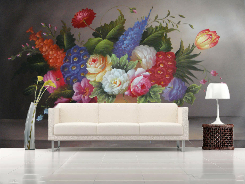 3D Farbefuls Flowers 9 Wall Paper Murals Wall Print Wall Wallpaper Mural AU Kyra