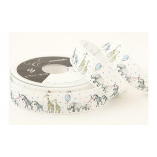 Berisfords Baby Ribbons Baby Shower Parade White Width 25mm