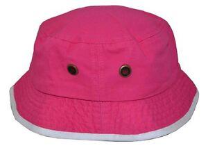 Image is loading New-Hattan-Women-039-s-100-Cotton-Bucket- 4da151a2c19