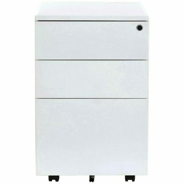 J.Burrows (JBST3DDPDWE) Stilford 3 Drawers Mobile Pedestal -White#Slight damage