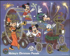 GRENADINES-di-Grenada-1988-DISNEY-Natale-Mickey-Treno-cartoni-animati-1v-M-S-b6724h