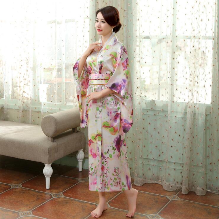 New Japanese Oriental Elegant Spring Blossom Kimono Costume One Size kimono7