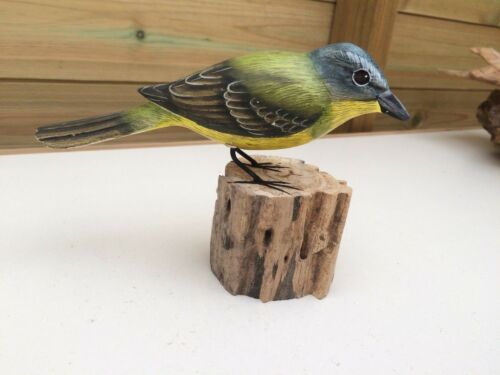 16cm Wagtail Hand Crafted Wooden British Garden Bird 13cm