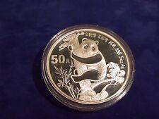 1987 China 5oz Silver PROOF Panda Coin--50 Yuan with BOX and COA