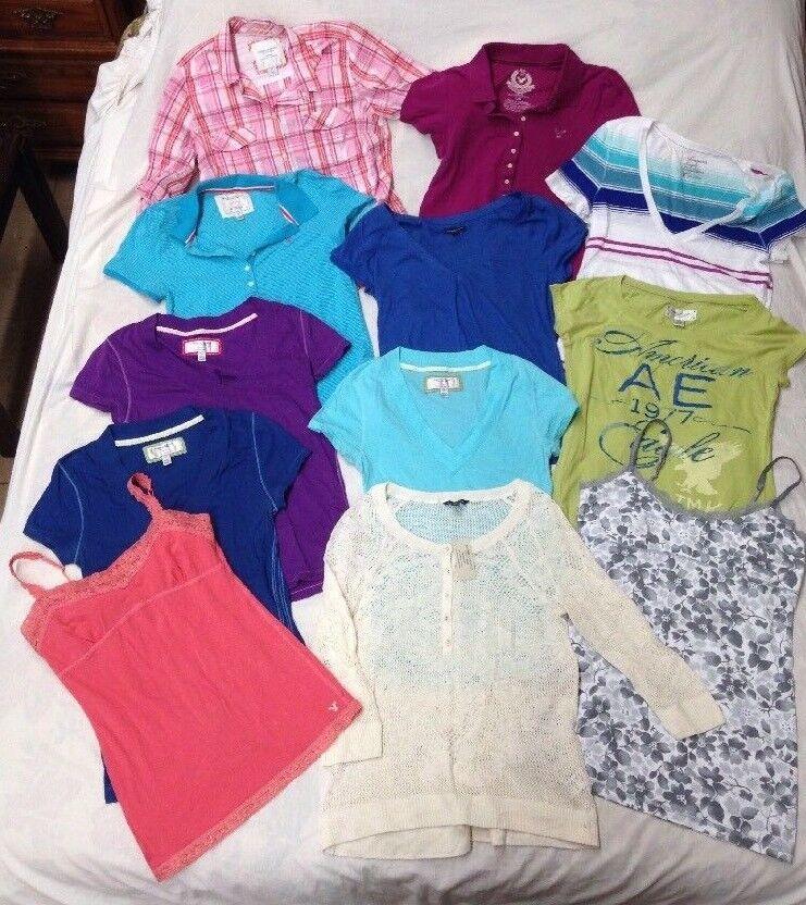 12 PC mucho American Eagle AEO para mujer  Tops azulsas Camisas Camis Tamaño Grande  autorización oficial