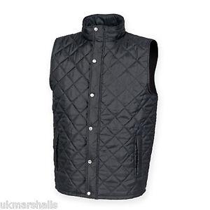 Front-row-diamant-noir-matelasse-veste-sans-manches-gilet-s-xxl-FR903