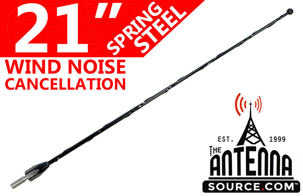 "12/"" Black Spring Stainless AM//FM Antenna Mast Fits 93-15 Ford E-450 Econoline"