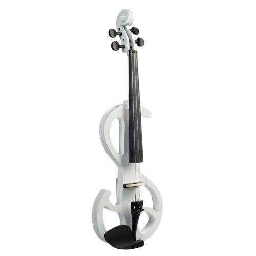 4//4 volle Größe Ahornholz elektrische Violine Geige lautlos w Zubehör
