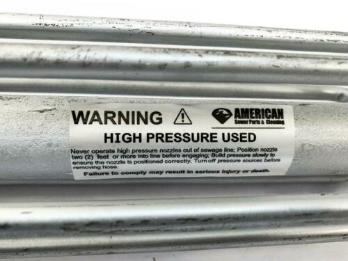 Details about  /American Sewer Parts /& Cleaning 4E69504 High Pressure Nozzle NEW FREE FAST SHIP