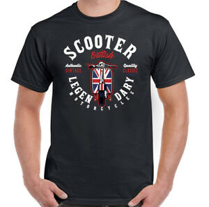 Legendario-Scooter-Biker-Camiseta-para-hombre-Lambretta-Vespa-Mod-Paul-Weller-Bicicleta