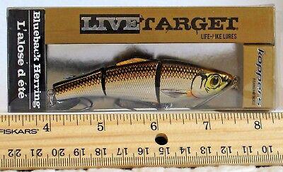LiveTarget Smelt 3 5//8 in 5//16 oz Dives 3-4 ft Color:Silver//Bronze NEW