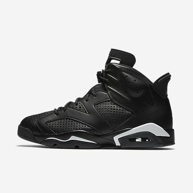 2016 Nike Air Jordan 6 VI Retro Nero Cat Size 9. 384664-020 1 2 3 4 5