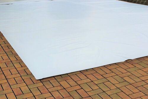 Abdeckplane Lkw Plane PVC Folie 5m x 6m ca.420g//qm Weiß B-Ware