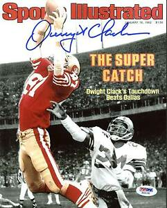 "49ers Dwight Clark Signed 8X10 Spotlight Photo Of ""The Catch"" SI Cover PSA/DNA"