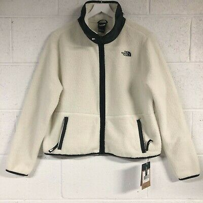 Women S Nwt The North Face Dunraven Sherpa Crop Jacket Size L Large Ebay