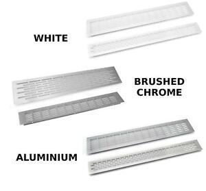 Chrome bross blanc plinthe cuisine grille ventilation plan de travail chaleur ebay - Plan de travail cuisine resistant chaleur ...
