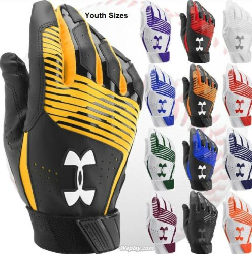 Boy/'s,Kids 1299531 Under Armour Clean Up Baseball Softball Batting Gloves Youth
