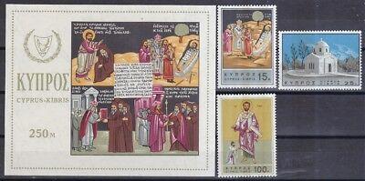 Block 4 265-267 Clever Zypern 1966 Postfrisch Minr