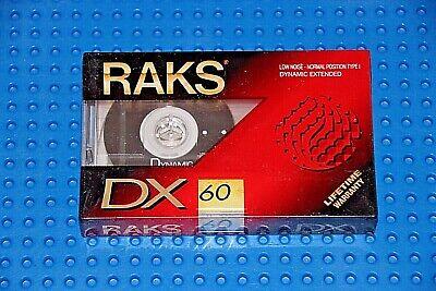 Vintage 1993-95 RAKS DX 60 SEALED BLANK AUDIO CASSETTE TAPE more