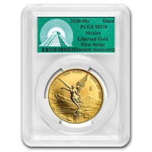 2020 Mexico 1 oz Gold Libertad MS-70 PCGS (FS, Green Label) - SKU#229084