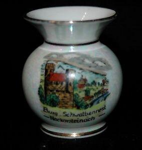 Hummendorf-Vase-Neckarsteinach-Burg-Schwalbennest-Hessen-Bergstrasse-Porzellan