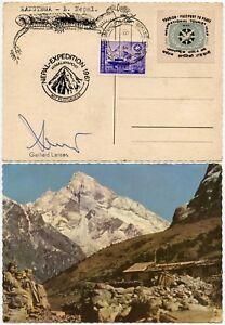 MOUNTAINEERING-SIGNED-KANGTEGA-GERHARD-LENSER-TOURIST-PASSPORT-PEACE-LABEL