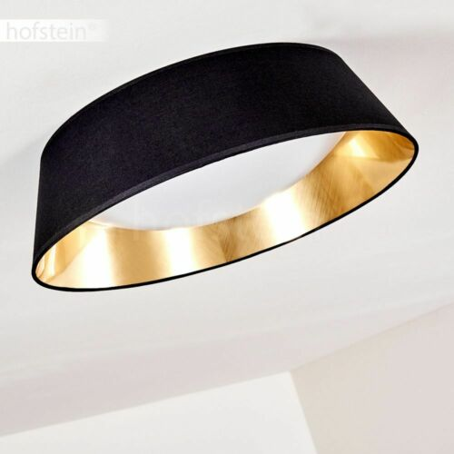 LED Design Wohn Schlaf Zimmer Flur Dielen Decken Leuchte Lampe schwarz-gold rund