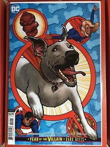SUPERMAN-14-RECALLED-HUGHES-KRYPTO-VARIANT-COVER-YOTV-DARK-GIFTS-DC-2019-NM