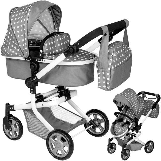 Jeans Grey Bayer Chic 2000 Wickeltasche für Puppenwagen Puppen & Zubehör