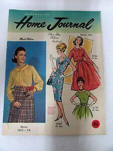 Vintage 1961 Home Journal Magazine Mid Century Design Fashion Dress Patterns Ebay
