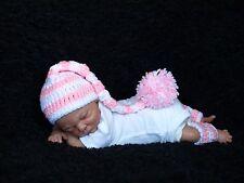 Handmade Elf Hat Set For 14- 15 inch OOAK Baby or Preemie Reborn Doll Red