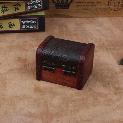 Vintage Wooden Decorative Trinket Small Boxes Storage Jewelry Box Treasure Chest