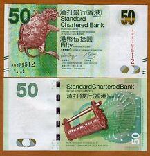 Hong Kong, $50, 2012, SCB, P-298b, UNC