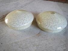 Lot 2 anciens abat jour de lampe vintage verre tulipe french antique lampshade