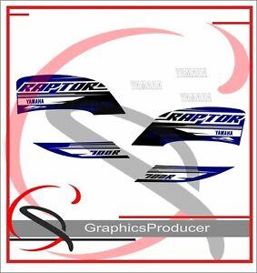 Yamaha Raptor 700 SE Replica Decals Grey Model 2018 Graphics Kit Stickers  Set